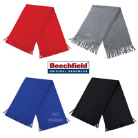 BEECHFIELD WINTER FLEECE SCARF TASSEL TRIM THERMAL SUPER WARM SOFT SKI CASUAL