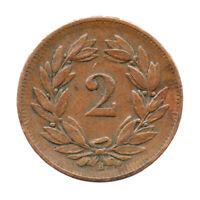 KM# 4.2 - Schon# 16 - 2 Rappen - Helvetia - Switzerland 1908B (F)