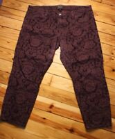 Banana Republic L'Wren Scott 33 Short Purple Brocade Slim Leg Jeans Pants