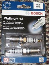 Bosch Platinum +2 # 4312 Spark Plugs 2 Pack 2 Times Service Life New!