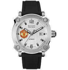 Bulova AccuSwiss 63B195 Percheron Manchester United Swiss Made Automatic Watch