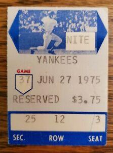 Boston Red Sox New York Yankees Baseball Ticket Stub Jun 1975 Bobby Bonds HR 203