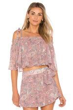 NWOT Show Me Your Mumu Womens Nini Tie Top In Blushing Pink Paisley Size XS
