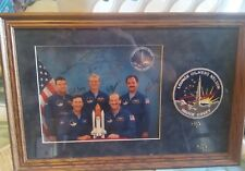 FRAMED AUTOGRAPHED PHOTO OF 5 ASTROUNATS LOUNGE,HILMERS,COVEY,NELSON, HAUCK