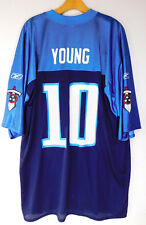 New ListingTENNESSEE TITANS VINCE YOUNG  10 JERSEY Blue Logo Reebok  Official NFL Players XL 3b2e0b7b8