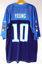 New ListingTENNESSEE TITANS VINCE YOUNG  10 JERSEY Blue Logo Reebok  Official NFL Players XL 3b2e0b7b8