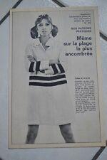 """"""" MODES de PARIS """" PATRON SUPPL. DU N°1021 // SORTIE DE BAIN TAILLES 42 44 & 46"""