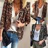 ZANZEA Women Open Front Cardigan Leopard Print Jacket Coat Ladies Outwear Blazer