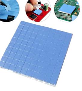25PC 10x10x1mm VRM GPU CPU RAM Thermal Cooling Pads Blue Silicone UK
