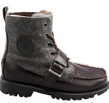 Polo Ralph Lauren Big Kids' RANGER HIGH II Boots Chocolate/Grey 991363J a1