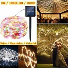 100/200LED Solar Power Fairy Lights String Lamps Party Home Decor Garden Outdoor