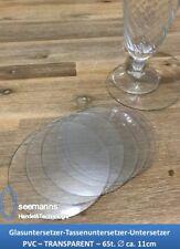 Untersetzer Tassenuntersetzer Glasuntersetzer Rund Ø 11 cm PVC 6St.-TRANSPARENT