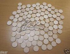 "(100) 1""x1/8"" Wooden Circles Laser Cut Craft Disc Flat Hard wood Shapes USA MADE"