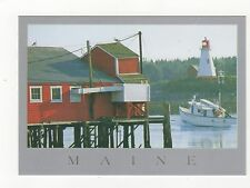 Lubec Maine to Campobello New Brunswick Postcard 351a ^