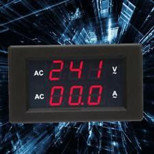 Ac100v 300v Voltmeter Amperemeter Led Dual Digital Volt Amp Meter Gauge