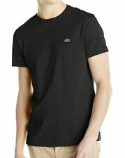 Lacoste Men's Standard Short Sleeve Jersey Pima Regular Fit Crewneck T-shirt Black 4