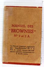 Original Kodak Brownie No. 2, No. 2A & Beau Brownie Instruction Manual-French