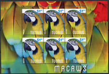 Tuvalu 2014 MNH Macaws 6v M/S II Birds Parrots Stamps