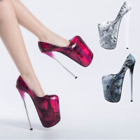 Ultra High Drag Queen Heels Vintage Men's Crossdresser Trans Shoes Plus Size