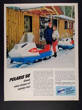 1968 Polaris Colt Snowmobile color photo vintage print Ad