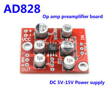 DC 5V-15V 6V 12V AD828 OP Amp Preamplifier Board Stereo Audio Preamp Module