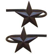 Metal Star Curtain Holdbacks, Set of 2