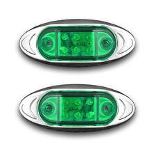 2 units 12V Green LED Marker Light for CAR CARAVAN TRAILER BUS TRACTOR CAMPER
