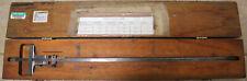 Vintage Starrett No 448 Vernier Machinist Depth Gage 0 18 With Orig Box Old Tool