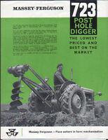 FERGUSON POST HOLE DIGGER BORER BROCHURE .................. ORIGINAL 723 LEAFLET