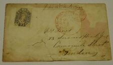 Tasmania. 1857-64 6d Grey on 1865 cover Hobart Town to London.