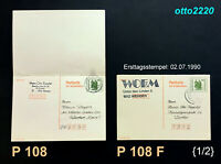 DDR, 1990, Ganzsachen, MiNr. P 108 (DDR-BRD-DDR-Post), P 108 F;