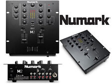 NUMARK M2 - 2 Channel Compact Scratch Mixer EQ Fader Effects DJ Tabletop Black