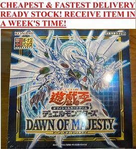CHEAPEST & FASTEST YuGiOh Dawn of Majesty ASIA SEALED Booster Box Japanese DAMA