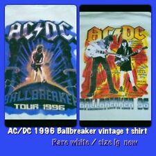 AC/DC BALLBREAKER 1996 Vintage concert Shirt Rare White NEW MINT RARE LARGE