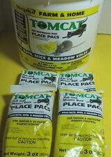 Tomcat Diphacinone 4-3 OZ Yellow Place Pacs 4 Packs 12 oz Kills Mice&Rats DEAD!