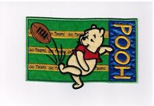 "Winnie The Pooh Football Iron On Sew On Vintage Patch 6"" x 3"" Go Team"