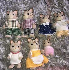 Sylvanian Families Macavity Cat Family X 7 ❤️