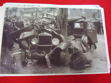 1920 'S STUDEBAKER TOTALED BY AHRENS FOX FIRETRUCK  11 X 17  PHOTO   PICTURE