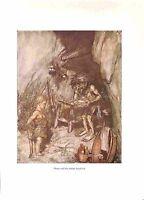 Arthur Rackham.Bargain.1939.Opera print.Wagner print.Mime.Siegfried.Fantasy.Art