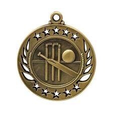 Cricket Antique Gold 50mm Medal Engraved