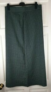 Grey Check Women's Long Maxi Lined Skirt Size 17