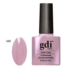 GDI NAILS - U02 FRUTTI MINK PURPLE - SUBTLE NUDE UV LED GEL NAIL POLISH VARNISH