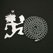 "ICP Juggalette  hatchet man hatchet girl charm 30"" ball chain necklace"