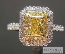 .51ct Intense Yellow VS2 Radiant Cut Diamond Ring R7288 Diamonds by Lauren
