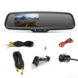 "4.3"" Car Rearview Mirror Monitor No1 Bracket Flush Mount Backup Camera For Dodge"