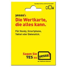 Yesss! Austria Pre-Paid SIM Karte A1 Telekom Österreich NEU + 100 Einheiten GH