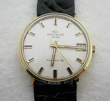 VINTAGE MENS 14K SOLID GOLD MOVADO HS 360 AUTOMATIC WRISTWATCH WATCH