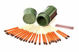 UCO Stormproof Match Kit  Dark Green 25 Windproof Waterproof Matches Camping