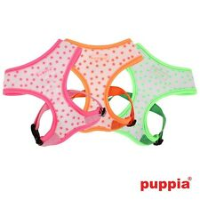 NEW FOR 2014, PUPPIA COSMIC GREEN FLUORESCENT DOG PUPPY HARNESS DELUXE