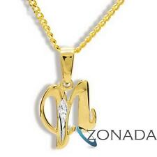 New N Initial Diamond 9ct 9k Solid Yellow Gold Pendant 61396/N